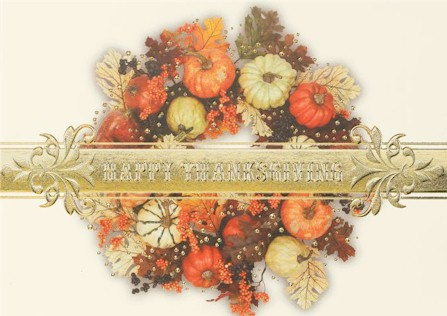 Bountiful-Thanksgiving Wreath Thanksgiving Card
