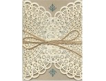Country Lace<BR>Wedding Invitation