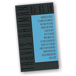 Modern Mitzvah II Bar Mitzvah Invitation