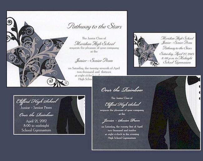 Invitations4Less.com  Prom Invitation Templates