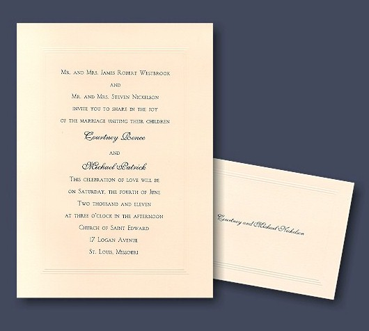 Wedding Invitations Trends 2011 – Traditional Engraved Wedding Invitations