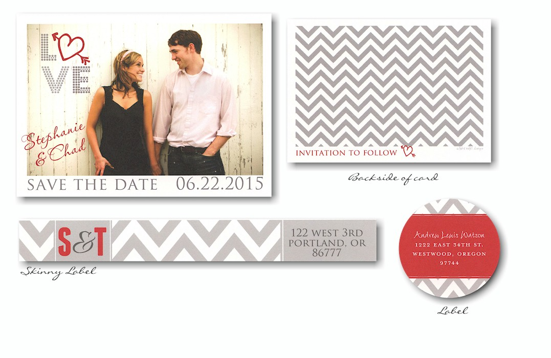 Love Urban Photo Save The Date Card